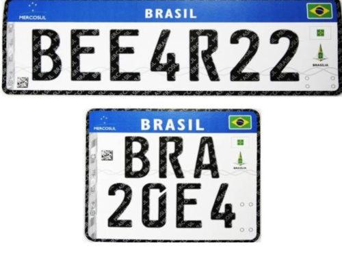 Nova placa do Mercosul